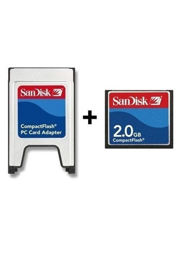 SanDisk Pcmcıa-Cf Compact Flash Adaptör + 2Gb Compact Flash Kart Renkli